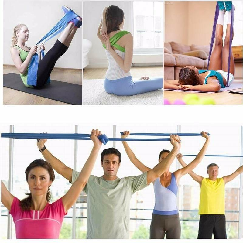 Resistance Fitness Rubber Equipment Exercise Pilates