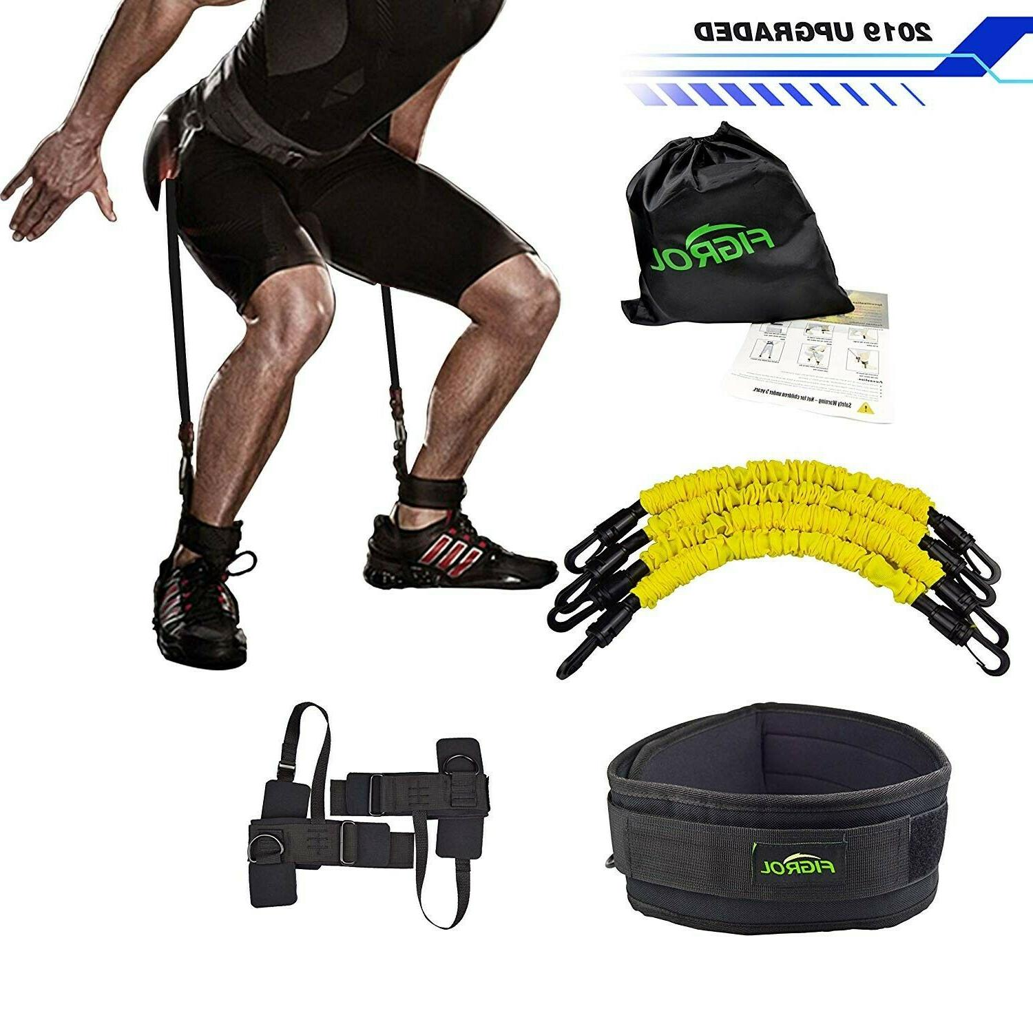 resistance bands training strength ankle straps jump