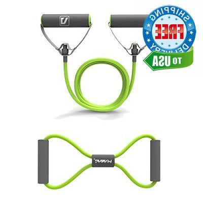 resistance bands tubes with foam handles exercise