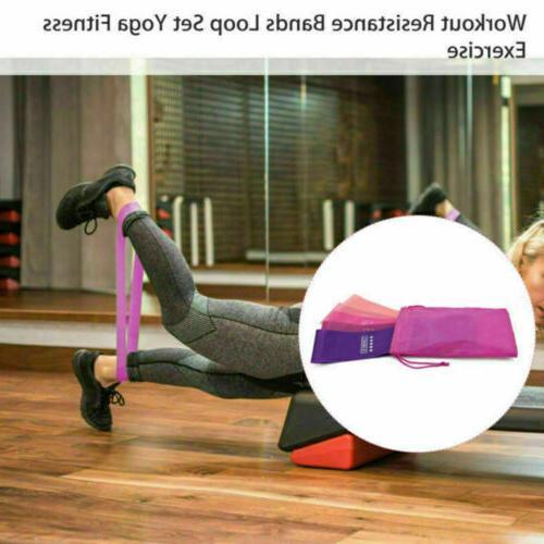 Workout Resistance Bands 5 Set Fitness Yoga Gym Leg Band