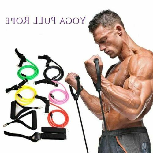 11PCS RESISTANCE BANDS SET HOME EXERCISE FITNESS TUBE
