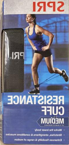 SPRI Resistance Cuff Leg/Ankle Band Medium  w/Exercise Guide