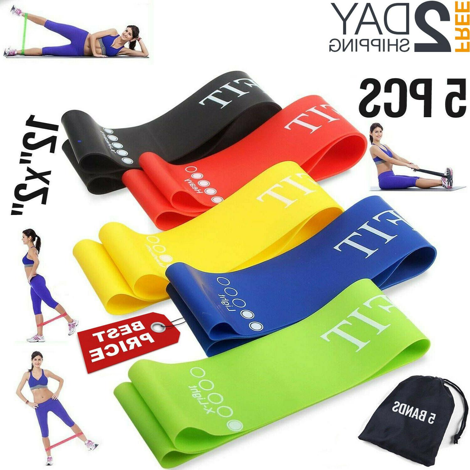 resistance exercise bands set workout train loop