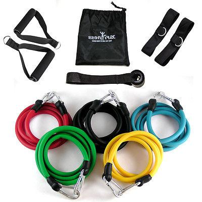 JS Fitness Resistance Bands Set-Workout Abs, Chest Back-Accessories Include D