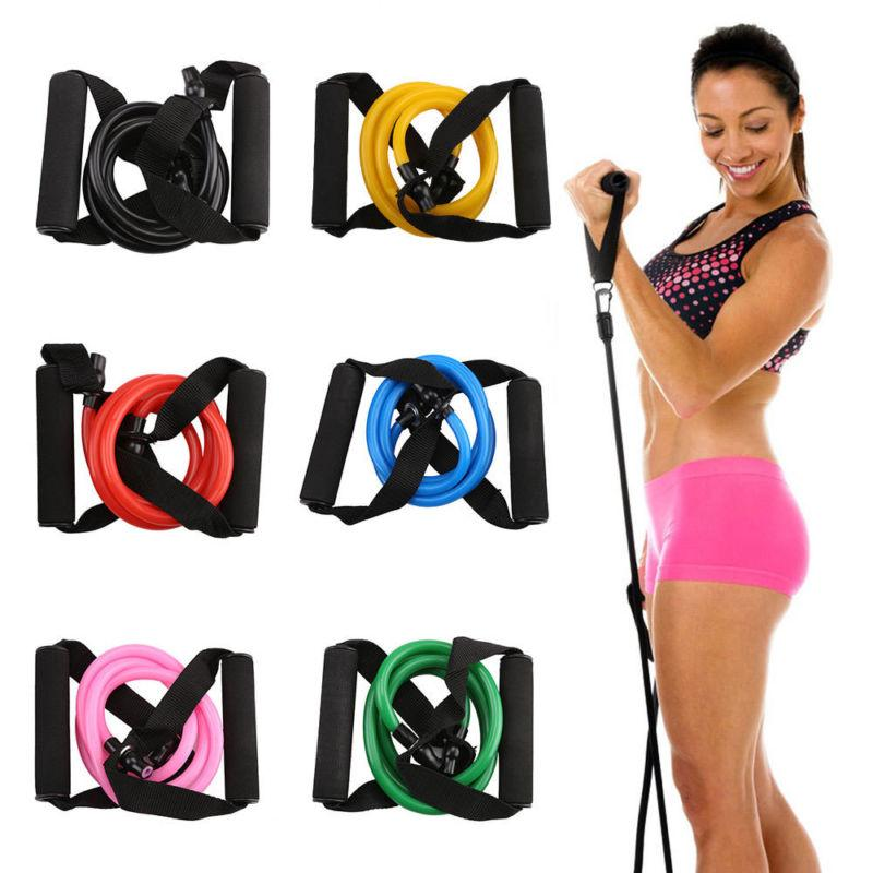 Resistance Exercise Workout Tube Heavy Fitness Band Yoga ten