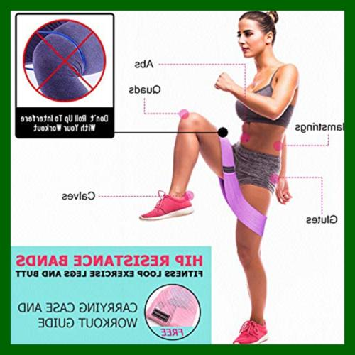 Resistance Fabric Band For Legs Butt Yoga Fitness Hip
