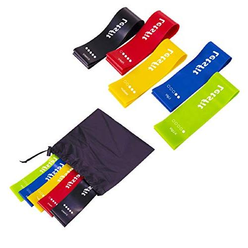 Letsfit Resistance Resistance Bands Home Training, Physical Therapy, Latex Exercise and Carry Bag, Set