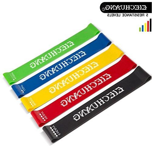 Resistance Bands Best 5 Bands Great Workout Therapy, Pilates, Yoga, Mobility Strength - Suitable Men - Latex!