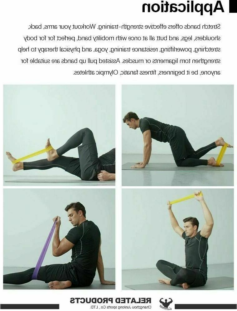 Resistance loop bands set Strength exercise Yoga Pull