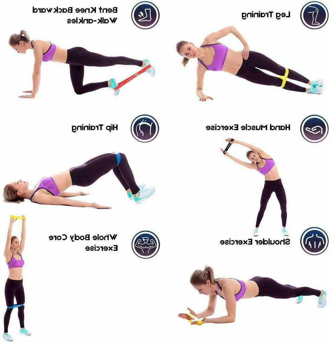 Resistance loop Strength fitness Gym exercise Yoga workout