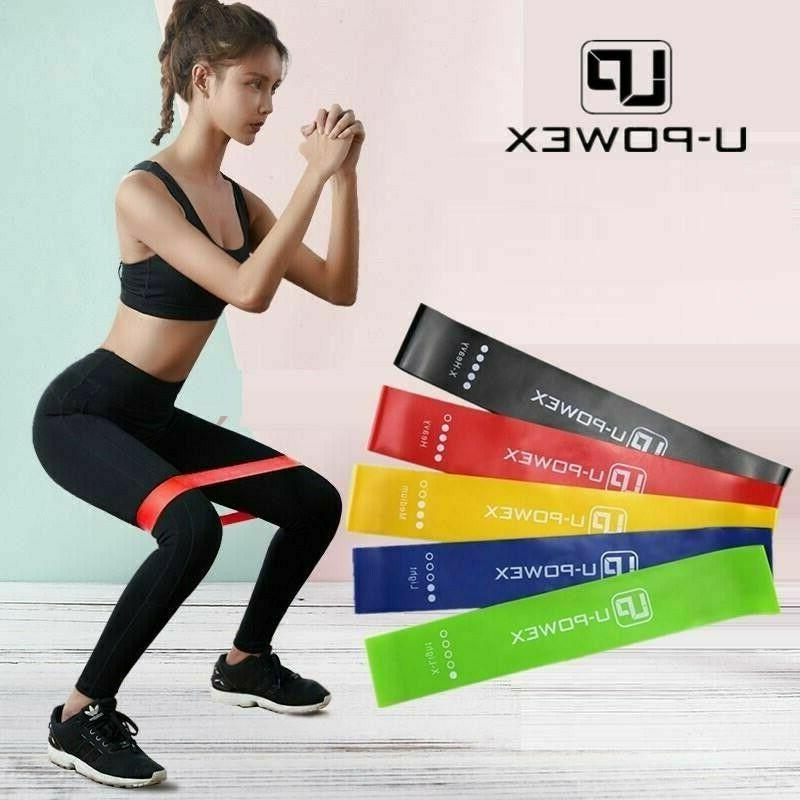 Resistance bands Strength fitness Gym exercise Yoga up