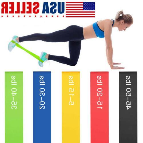 resistance loop bands set strength fitness gym