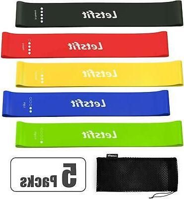 resistance loop bands stretching natural latex bands