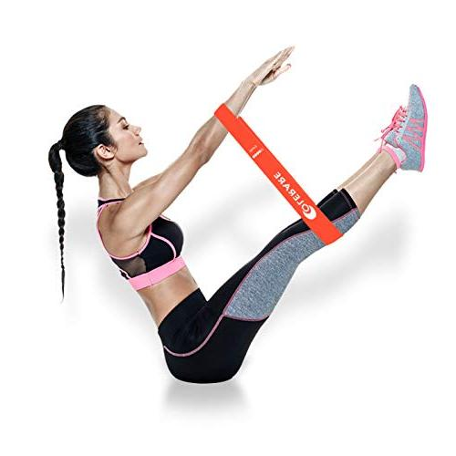 Colerare Resistance Bands for Stretching, Training, Therapy, Natural Bands,Crossfit, 5