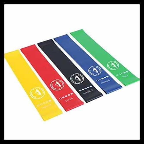 REEHUT Exercise Bands Workout Stretch Of 5 Heav