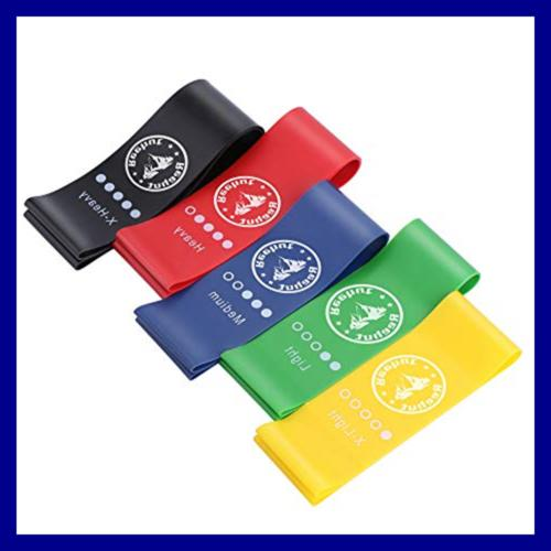 REEHUT Resistance Bands Stretch Set Of 5 Heav