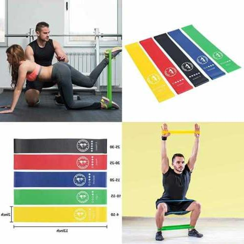 resistance loop exercise bands workout stretch set