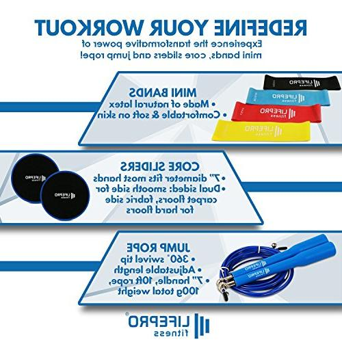 LifePro & Rope Premium 80 Day Equipment Exercise Videos Beachbody 4 Bands Gliding Discs Adjustable Rope