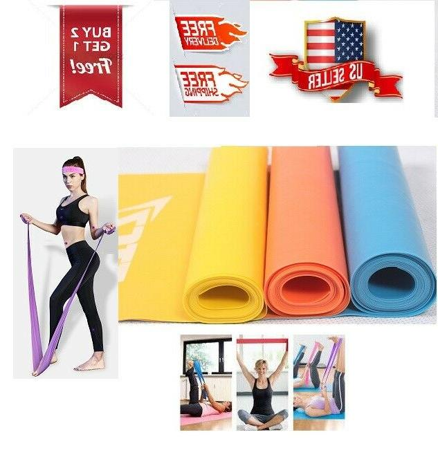 resistance stretch bands yoga gym pilates aerobic