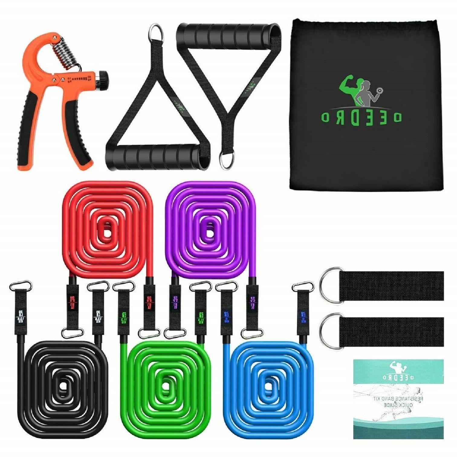 Resistance Tubes Bands Exercise Fitness Workout Train Stretch