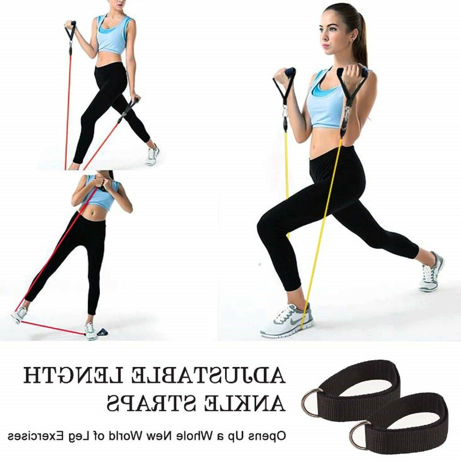 Resistance Bands Exercise Fitness Train Elastic Stretch Loop Set