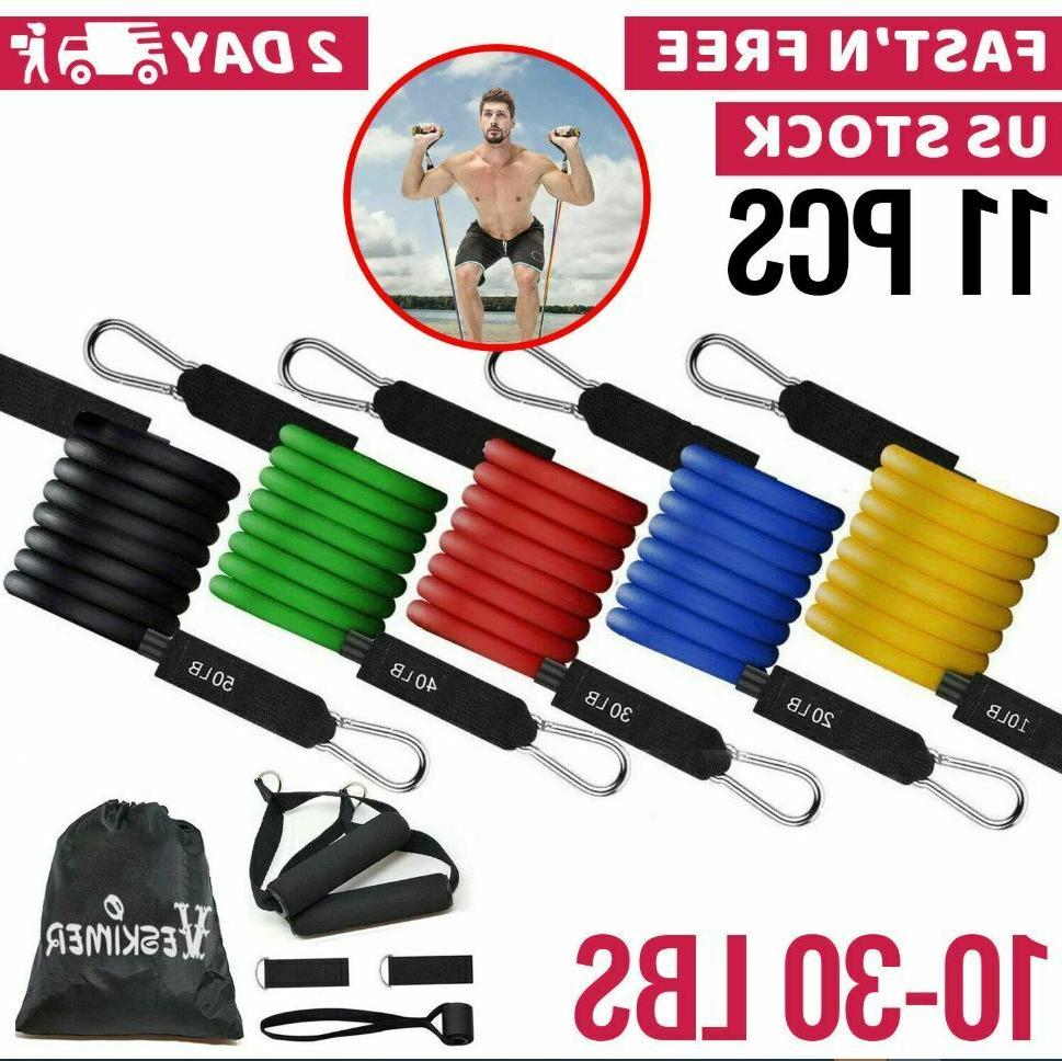 resistance tubes bands exercise fitness workout train
