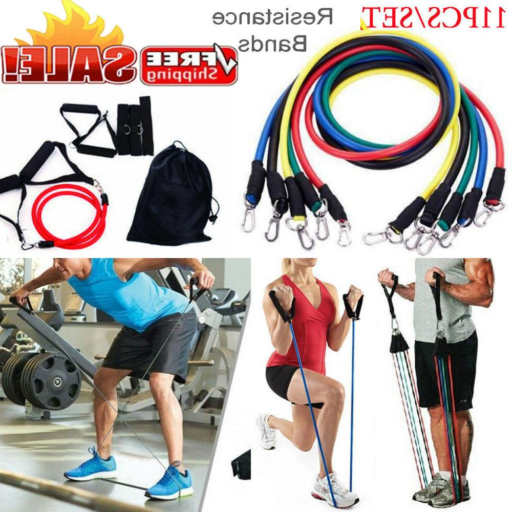 resistance tubes bands workout exercise fitness train