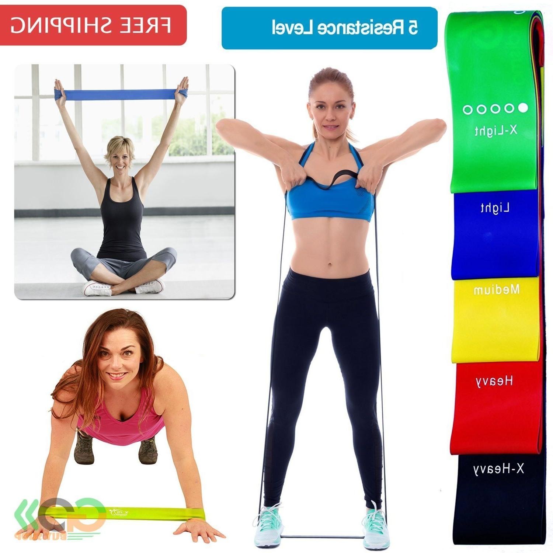 Resistance Bands Loop Set Fitness Workout Yoga Stretch  Exer