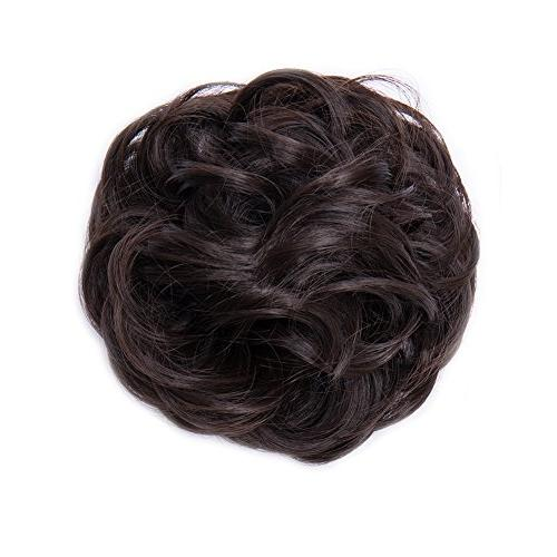 Scrunchy Wavy Hair Bun Donut Ombre Blonde