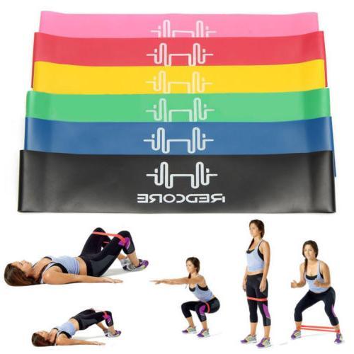 Set 6 Resistance Bands Loop Fit Fitness
