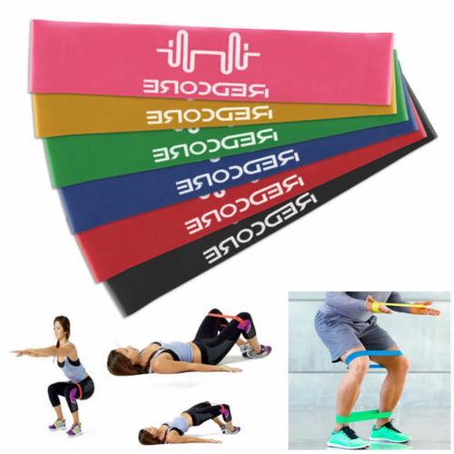 set 6 resistance bands loop exercise workout