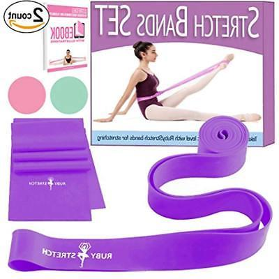 Set 2 Stretch Bands Exercise Kids Adults