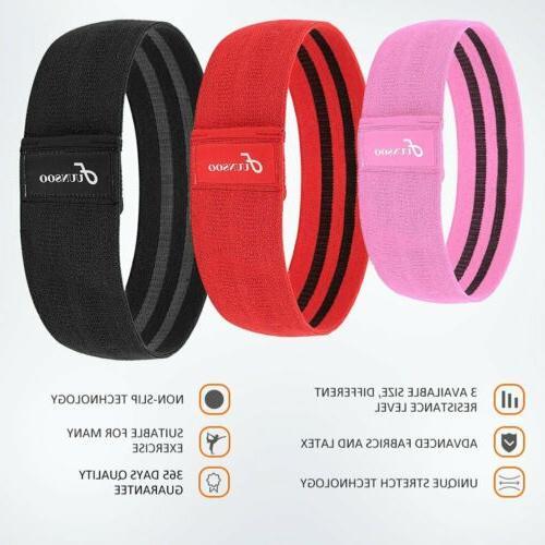 Set 3 Loop Bands Yoga Crossfit Fitness Pilates Workout US