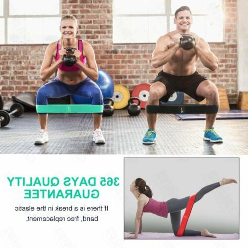 Set Resistance Loop Bands Yoga Crossfit Fitness Pilates Exercise US