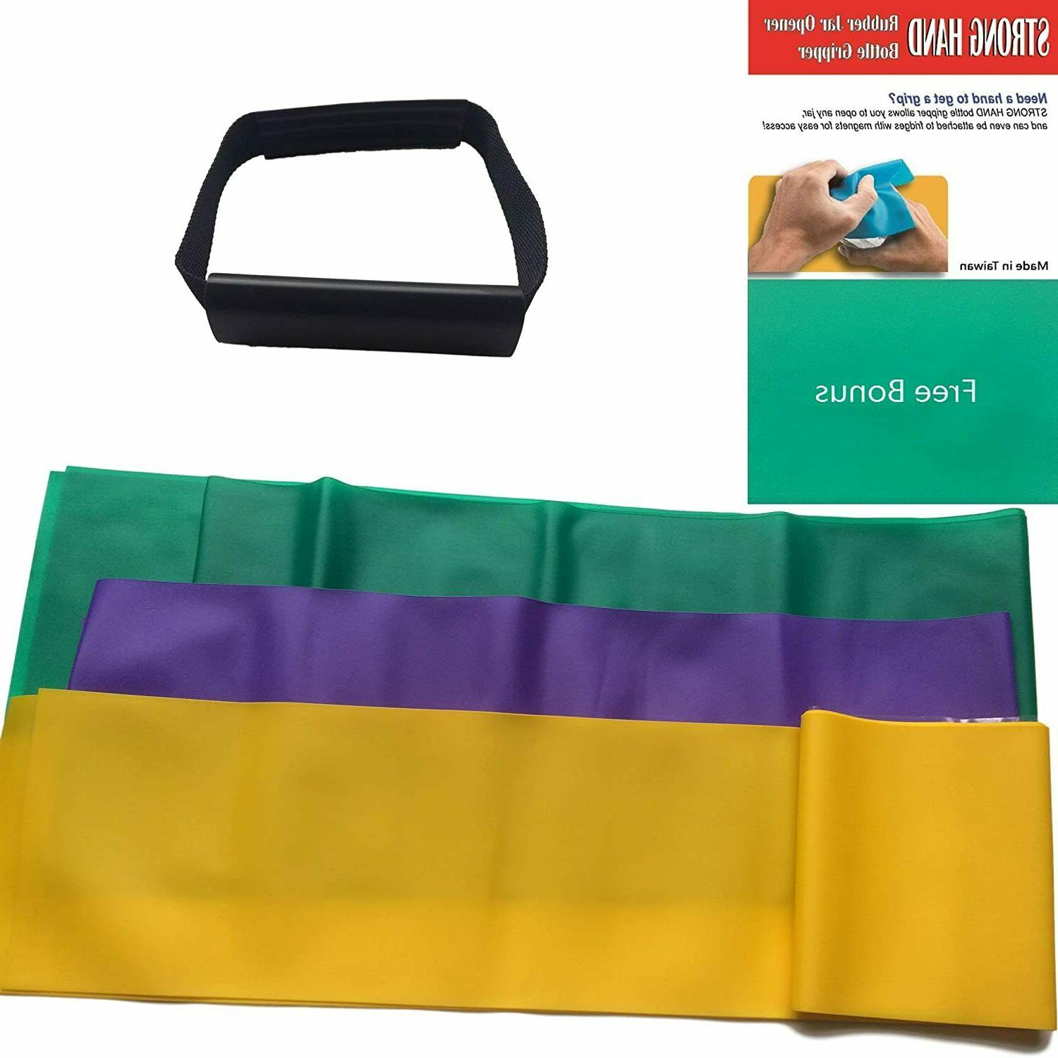 set of 4 resistance stretch bands loop