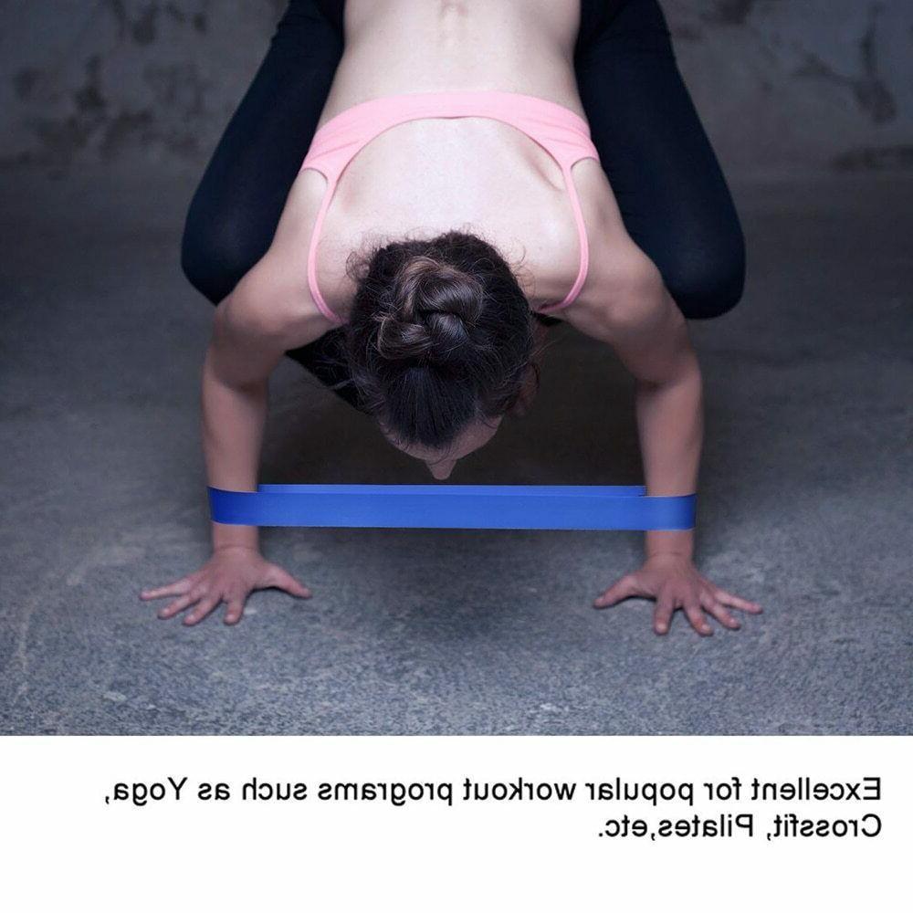 Set 5 Bands Yoga Fitness Booty Leg Exercise Band