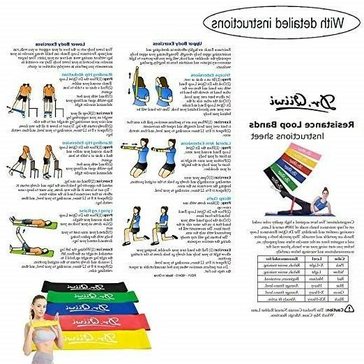 Set of Resistance Stretch Bands Legs And Butt Therapy