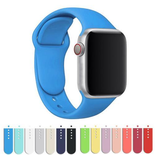 Silicone Sport Strap Watch Series 4 1 38/40mm