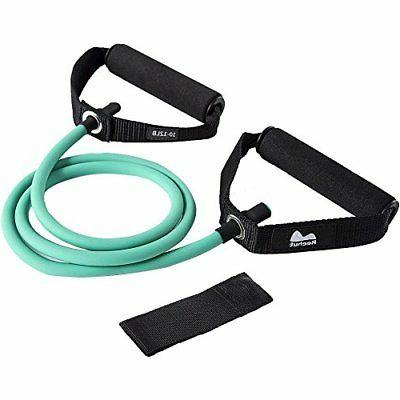 single resistance band exercise tube with door