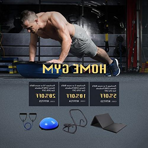 RitFit Single Resistance Exercise Band With - Ideal Physical Therapy, Strength Training, Muscle Toning - Door Anchor Guide )