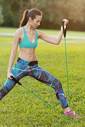 RitFit Single Resistance Band With Handles - Ideal Therapy, Strength Toning Foam Door and