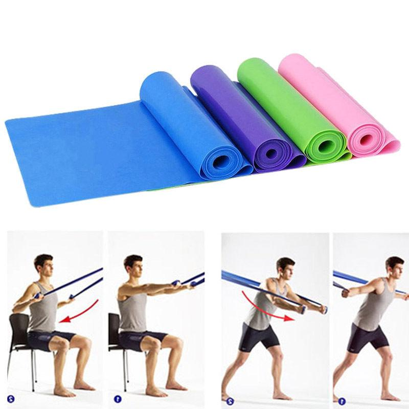 sports resistance band exercise yoga bands rubber