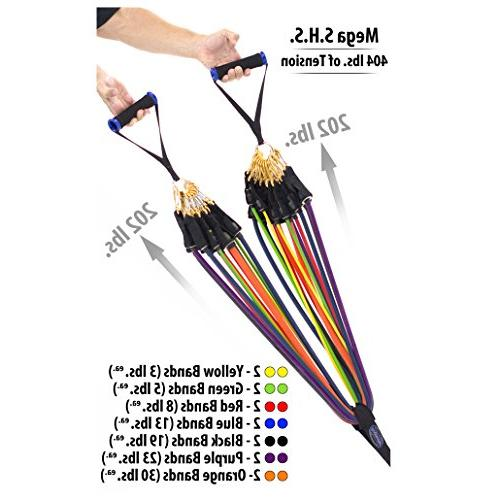 Bodylastics 12pcs, Tension Resistance Sets Include 7 or of Anti-Snap Bands.