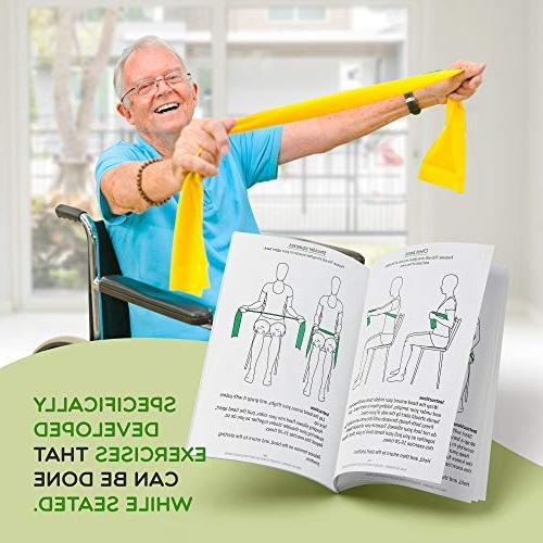 Healthy Program with two resistance bands, exercise guide. Ideal rehab or grandpa