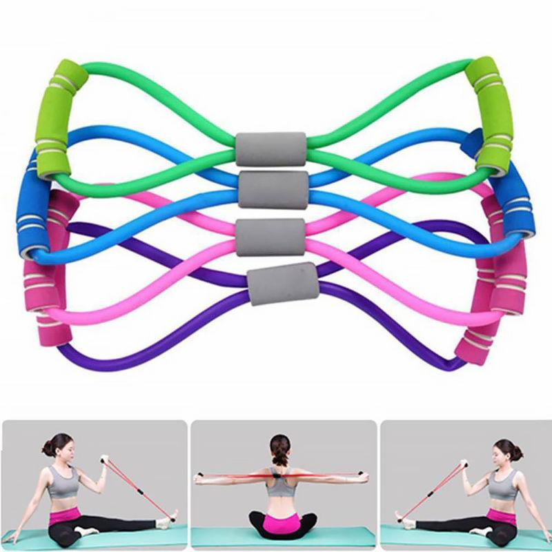 stretch fitness equipment elastic resistance bands tube