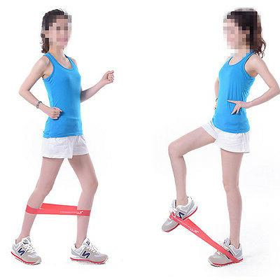 tension ankle resistance band exercise loop crossfit