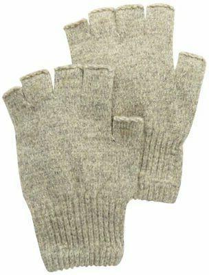 Toasty Warm Men's Fingerless Insulated Ragg Gloves w/ Elasti