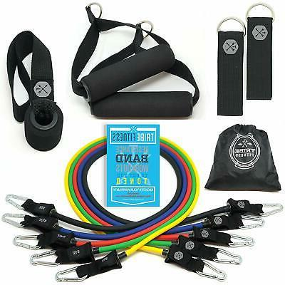 tribe resistance bands set working out bands