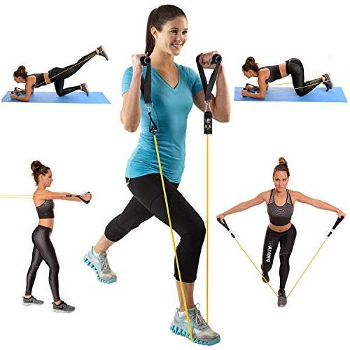 Ketia 11 Tube Resistance Attachment, Ankle Straps, Exercise Tube Bands for Shaping, Training- Time