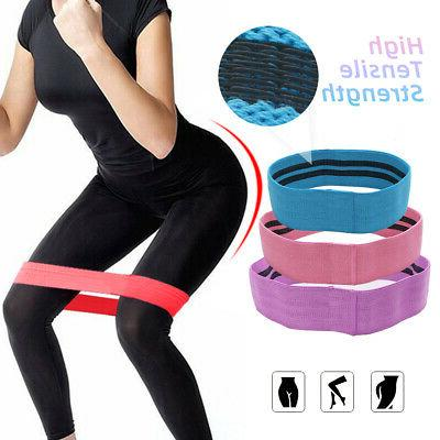 Unisex Workout Resistance Exercise Bands Elastic Hoops
